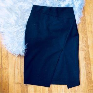 Zara Black Pencil Skirt With High Slit